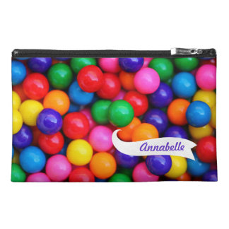 Gum Balls Zippered Name Bagette Bag! Travel Accessory Bag