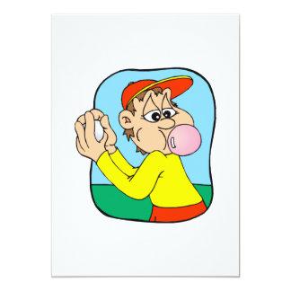 Gum Chewing Pitcher 5x7 Paper Invitation Card