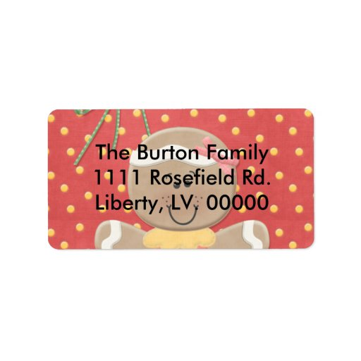Gum Drops and Ginger Bread Personalized Address Labels