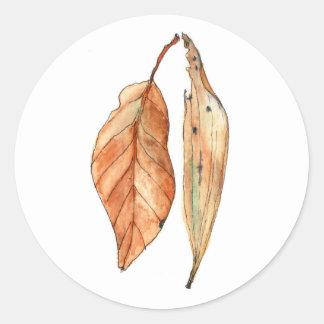 Gum Leaves #2 Classic Round Sticker