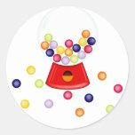Gum_Machine Round Sticker