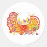 Gum_Machine Round Stickers