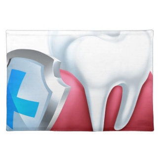 Gum Tooth and Shield Icon Placemat