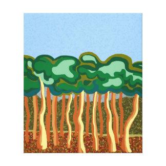 Gum trees and blue Australian skies Canvas Print