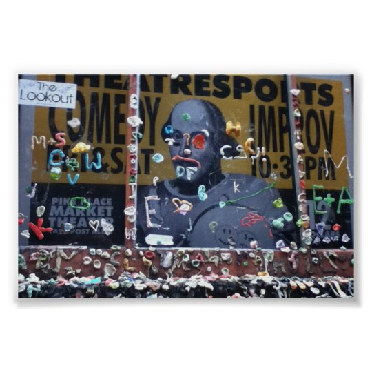 Gum wall at Pike Place Market in Seattle Poster