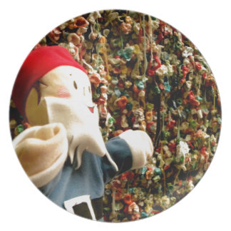 Gum Wall Gnome II Dinner Plate