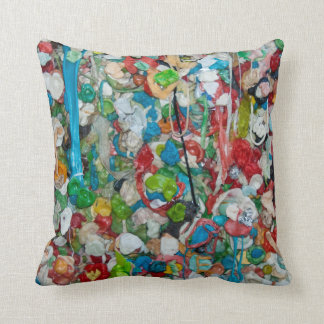 Gum Wall Throw Pillow