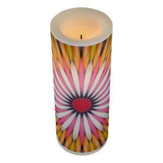 Gumball Art Battery Operated LED Flameless Candle