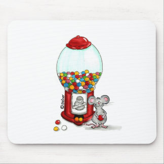 Gumball Design with cute little Mouse Mouse Pad