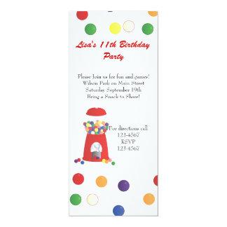 Gumball Machine 4x9.25 Paper Invitation Card