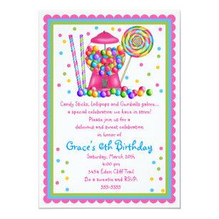 Lollipop invitations zazzle gumball machine and candy invitation filmwisefo