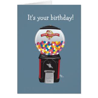 Gumball Machine Birthday Card