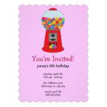 Gumball Machine Birthday Party Invitations