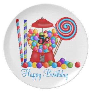 Gumball Machine Birthday Plate