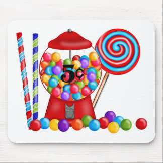 Gumball Machine Candy Lollipop Mouse Pad