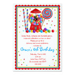 Gumball Machine Candy Lollipop sweet Invitation