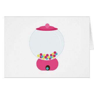Gumball Machine Greeting Card