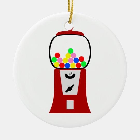 Gumball Machine Ceramic Ornament