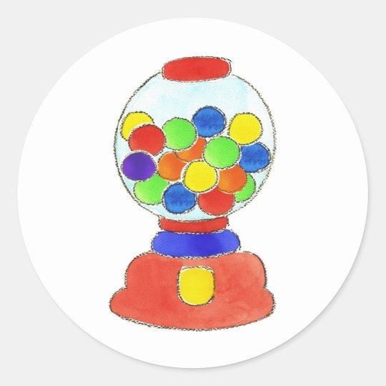 Gumball Machine Classic Round Sticker