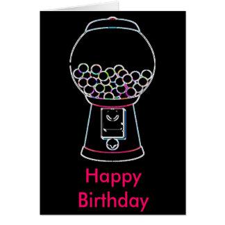 Gumball machine Glow, Happy Birthday Greeting Card