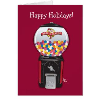 Gumball Machine Holiday Card
