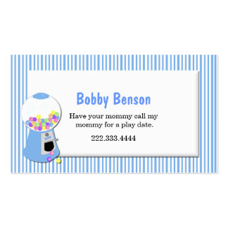 Gumball Machine Play Date Card Business Card