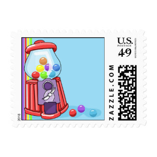 Gumball Machine Postage Stamps