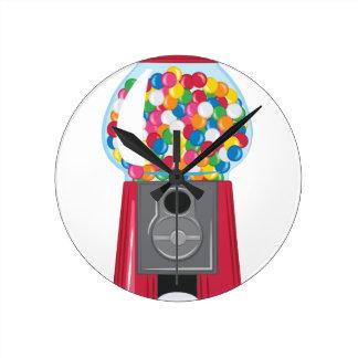 Gumball Machine Round Clock