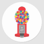 gumball machine round sticker