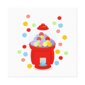 Gumball Machine Wrapped Canvas