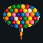 "Gumballs Cake Topper<br><div class=""desc"">Color gumballs in rows background</div>"