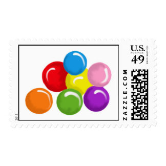Gumballs Candy Postage Stamps