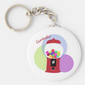 Gumballs! Basic Round Button Keychain