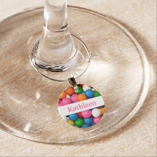 Gumballs Personalized Wine Charm