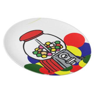 Gumballs Dinner Plates