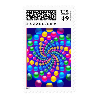 Gumballs Postage Stamps