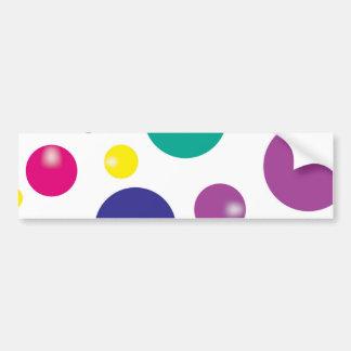 Gumballs que despide colorido pegatina para auto