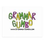 Gumbo de la gramática tarjetas postales