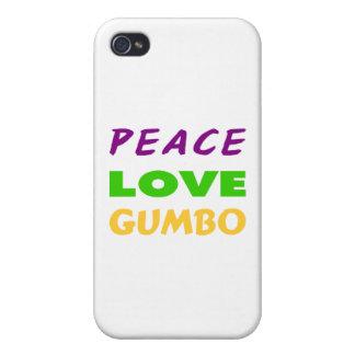 GUMBO DEL AMOR DE LA PAZ iPhone 4 PROTECTORES