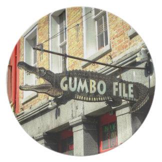 Gumbo Dinner  New Orleans French Quarter  Plate