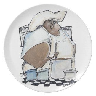 gumbo gibbons kitchen melamine plate