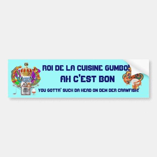 Gumbo King Mardi Gras View Hints please Bumper Stickers