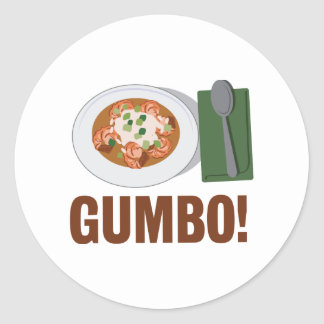 Gumbo Meal Classic Round Sticker
