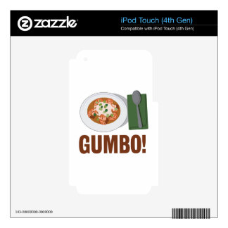 Gumbo Meal iPod Touch 4G Skin