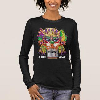 Gumbo Queen Mardi Gras All Style Dark View Hints Long Sleeve T-Shirt