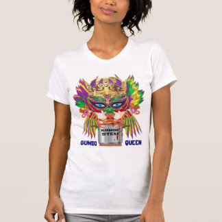 Gumbo Queen Mardi Gras All Style Light View Hints T-Shirt