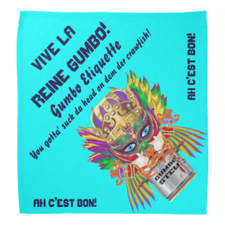 Gumbo Queen Mardi Gras Read About Design Bandana