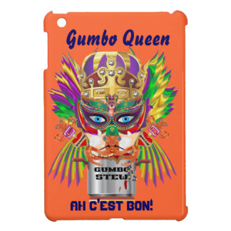 Gumbo Queen Mardi Gras View Hints please iPad Mini Cover