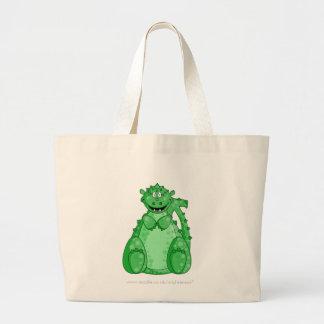 Gumby el tote verde bolsa de tela grande