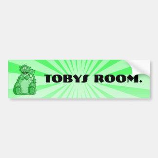 Gumby la pegatina para el parachoques verde pegatina para auto
